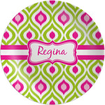 Ogee Ikat Melamine Plate (Personalized)