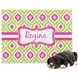 Ogee Ikat Minky Dog Blanket (Personalized)