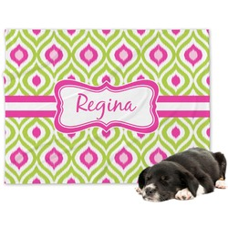 Ogee Ikat Minky Dog Blanket (Personalized)
