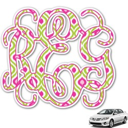 Ogee Ikat Monogram Car Decal (Personalized)