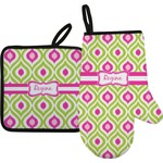 Ogee Ikat Oven Mitt & Pot Holder (Personalized)