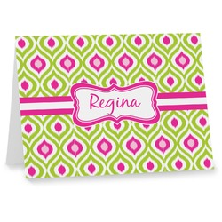 Ogee Ikat Notecards (Personalized)
