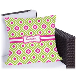 Ogee Ikat Outdoor Pillow (Personalized)