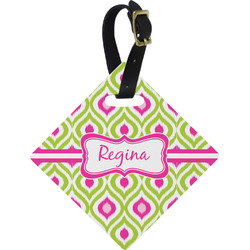 Ogee Ikat Diamond Luggage Tag (Personalized)