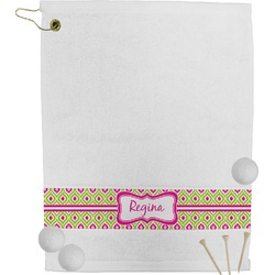 Ogee Ikat Golf Towel (Personalized)