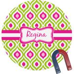 Ogee Ikat Round Magnet (Personalized)