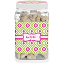 Ogee Ikat Pet Treat Jar (Personalized)