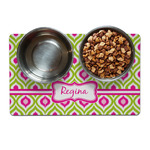 Ogee Ikat Dog Food Mat (Personalized)