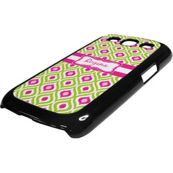 Ogee Ikat Plastic Samsung Galaxy 3 Phone Case (Personalized)