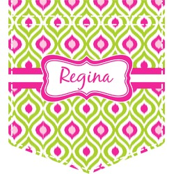 Ogee Ikat Iron On Faux Pocket (Personalized)