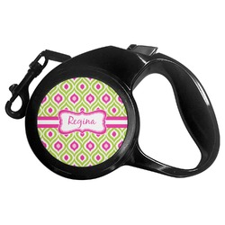 Ogee Ikat Retractable Dog Leash - Multiple Sizes (Personalized)