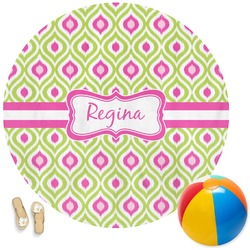 Ogee Ikat Round Beach Towel (Personalized)