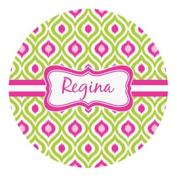Ogee Ikat Round Decal - Custom Size (Personalized)
