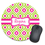 Ogee Ikat Round Mouse Pad (Personalized)