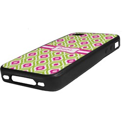 Ogee Ikat Rubber iPhone Case 4/4S (Personalized)