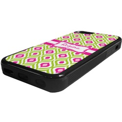 Ogee Ikat Rubber iPhone 5C Phone Case (Personalized)