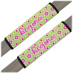 Ogee Ikat Seat Belt Covers (Set of 2) (Personalized)