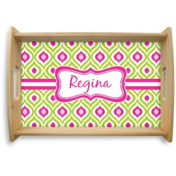 Ogee Ikat Natural Wooden Tray (Personalized)
