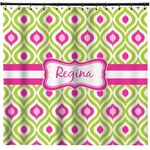 Ogee Ikat Shower Curtain (Personalized)