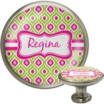 Ogee Ikat Cabinet Knob (Silver) (Personalized)