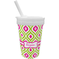 Ogee Ikat Sippy Cup with Straw (Personalized)