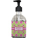 Ogee Ikat Soap/Lotion Dispenser (Glass) (Personalized)