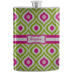 Ogee Ikat Stainless Steel Flask (Personalized)