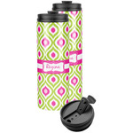 Ogee Ikat Stainless Steel Skinny Tumbler (Personalized)