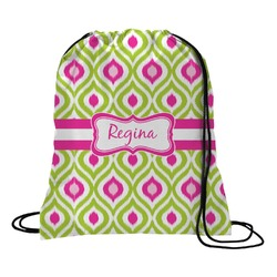 Ogee Ikat Drawstring Backpack (Personalized)