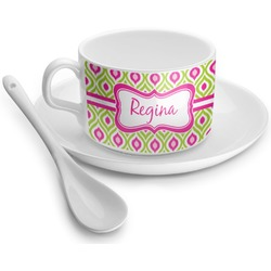 Ogee Ikat Tea Cups (Personalized)