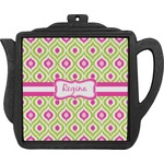 Ogee Ikat Teapot Trivet (Personalized)