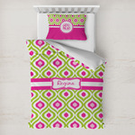 Ogee Ikat Toddler Bedding w/ Name or Text