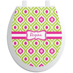 Ogee Ikat Toilet Seat Decal (Personalized)