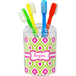 Ogee Ikat Toothbrush Holder (Personalized)