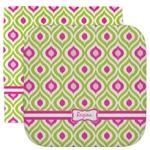 Ogee Ikat Facecloth / Wash Cloth (Personalized)