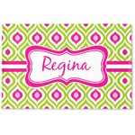 Ogee Ikat Woven Mat (Personalized)