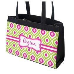 Ogee Ikat Zippered Everyday Tote (Personalized)