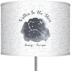 "Zodiac Constellations 13"" Drum Lamp Shade (Personalized)"