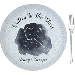 Zodiac Constellations Glass Appetizer / Dessert Plates 8