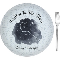 "Zodiac Constellations 8"" Glass Appetizer / Dessert Plates - Single or Set (Personalized)"