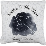 Zodiac Constellations Faux-Linen Throw Pillow (Personalized)