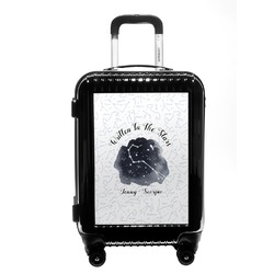 Zodiac Constellations Carry On Hard Shell Suitcase (Personalized)