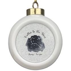 Zodiac Constellations Ceramic Ball Ornament (Personalized)