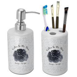 Zodiac Constellations Bathroom Accessories Set (Ceramic) (Personalized)