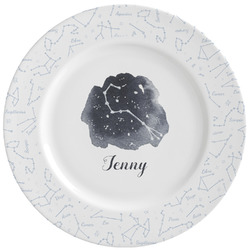 Zodiac Constellations Ceramic Dinner Plates (Set of 4) (Personalized)