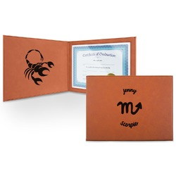Zodiac Constellations Leatherette Certificate Holder (Personalized)