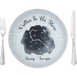 """Zodiac Constellations 10"""" Glass Lunch / Dinner Plates - Single or Set (Personalized)"""