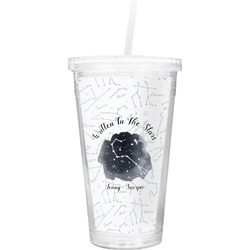 Zodiac Constellations Double Wall Tumbler with Straw (Personalized)