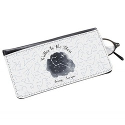 Zodiac Constellations Genuine Leather Eyeglass Case (Personalized)