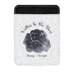 Zodiac Constellations Genuine Leather Money Clip (Personalized)